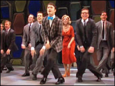 Daniel Radcliffe em 'How to Succeed in Business Without Really Trying'