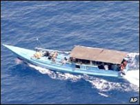 A boat carrying asylum seekers (file photo)