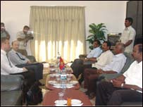 SLMM and Norwegian officials meeting LTTE leaders