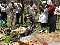 Murdered aid workers bodies exhumed for investigations (photo RG Dharmadasa)