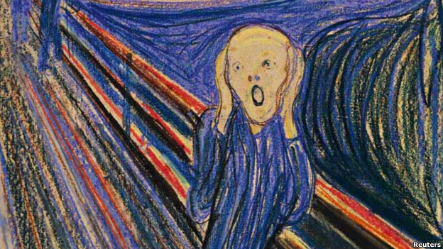 Edvard Munch's painting The Scream will be auctioned in New York on 2 May 2012.