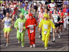 marathon runners in fancy dress