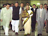 Sk Hasina with other party leaders