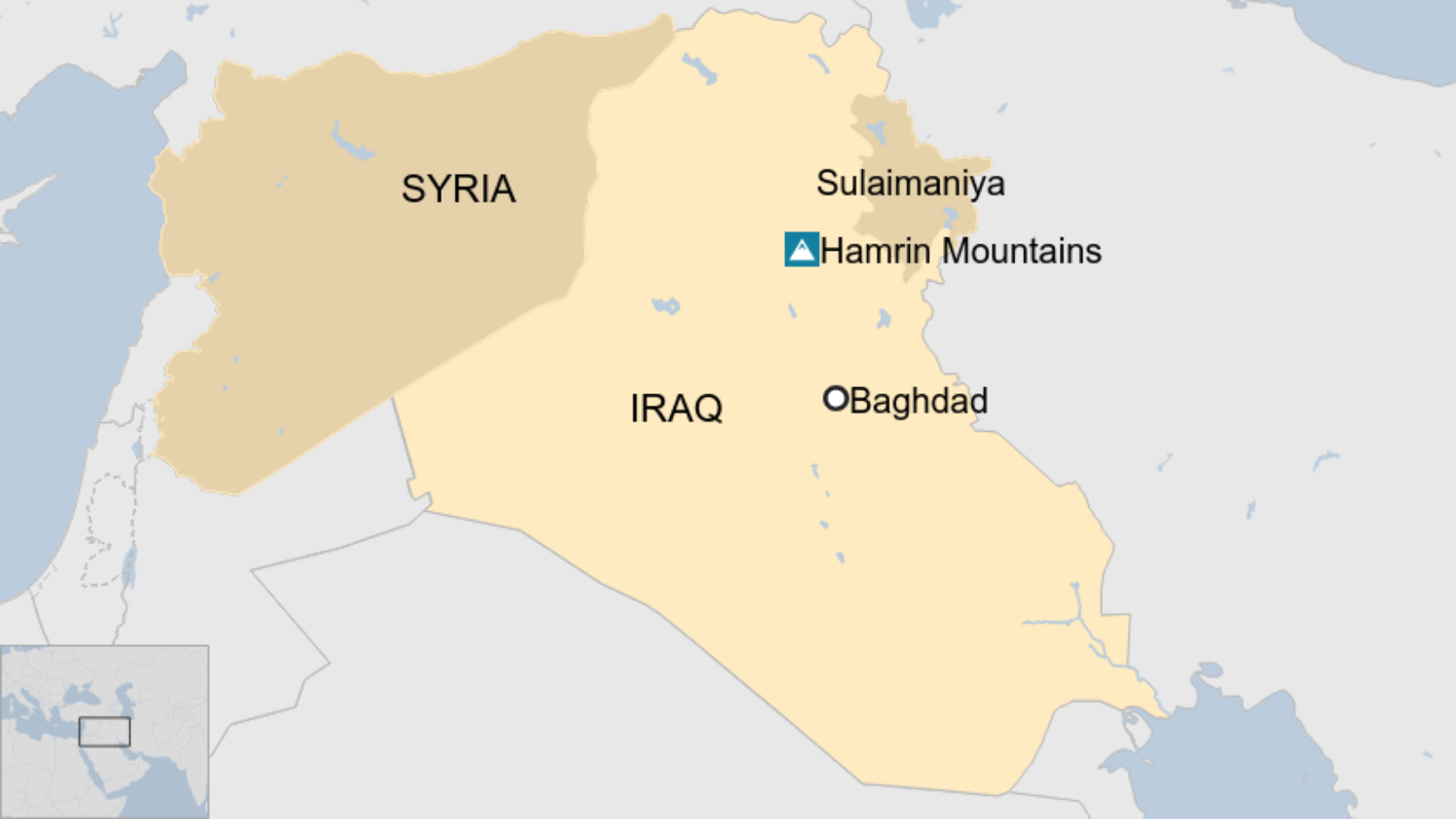 Map: Map of Iraq and Syria