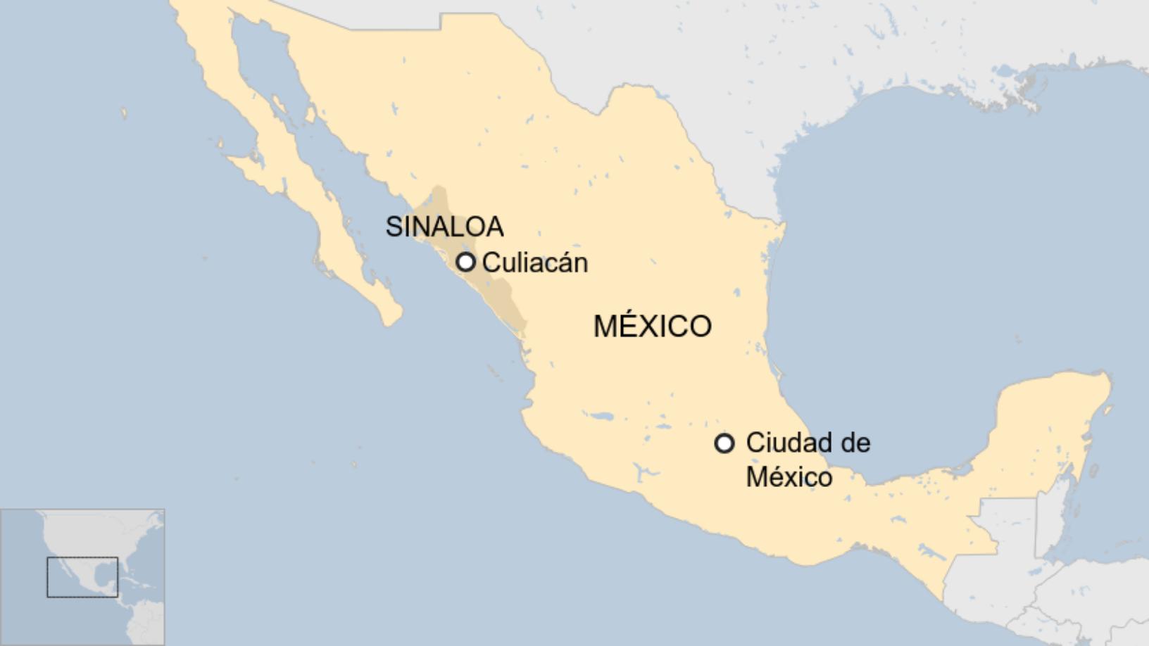 Map: México