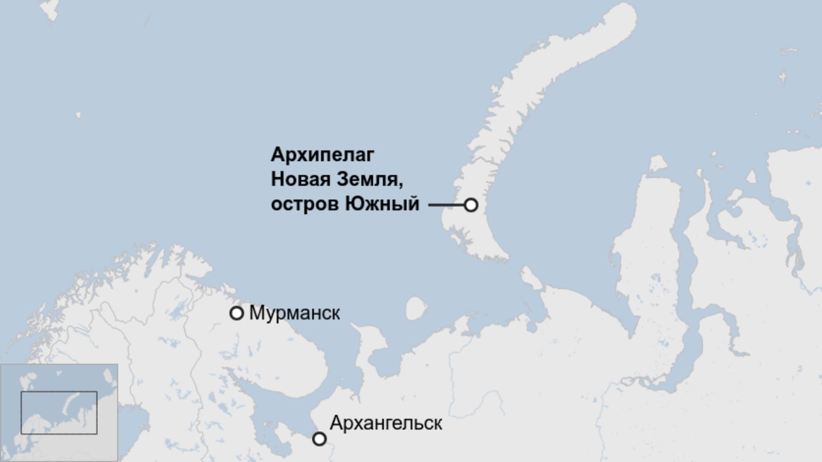 Map: Архипелаг Новая Земля