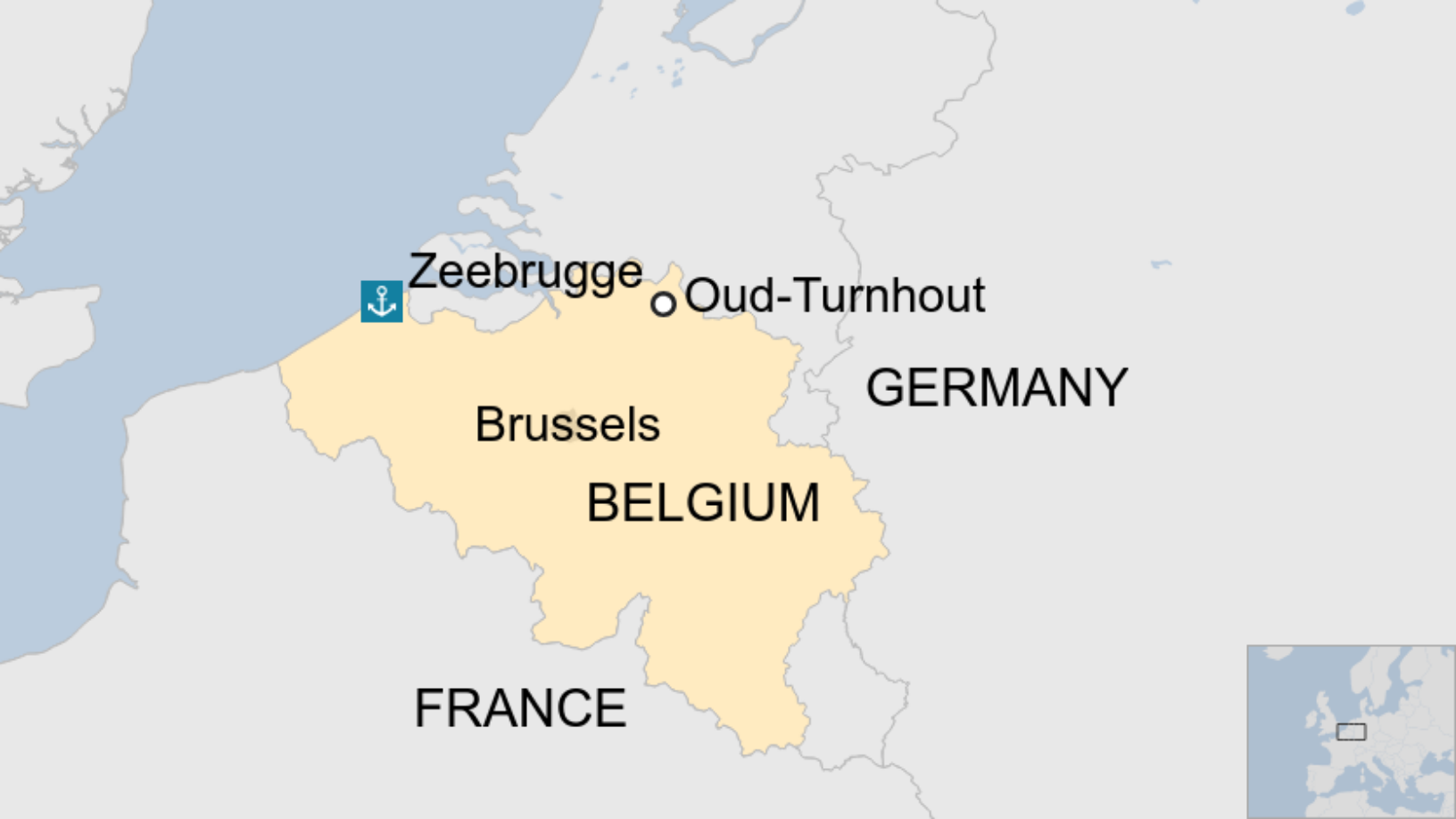 Map: The Belgian town of Oud-Turnhout
