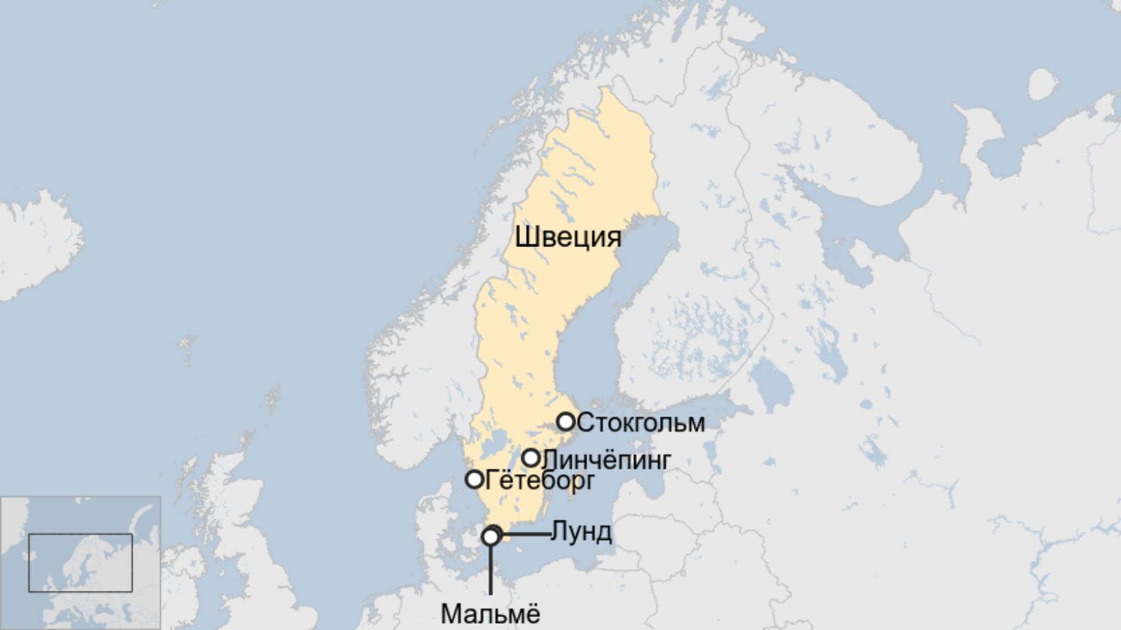 Map: Швеция