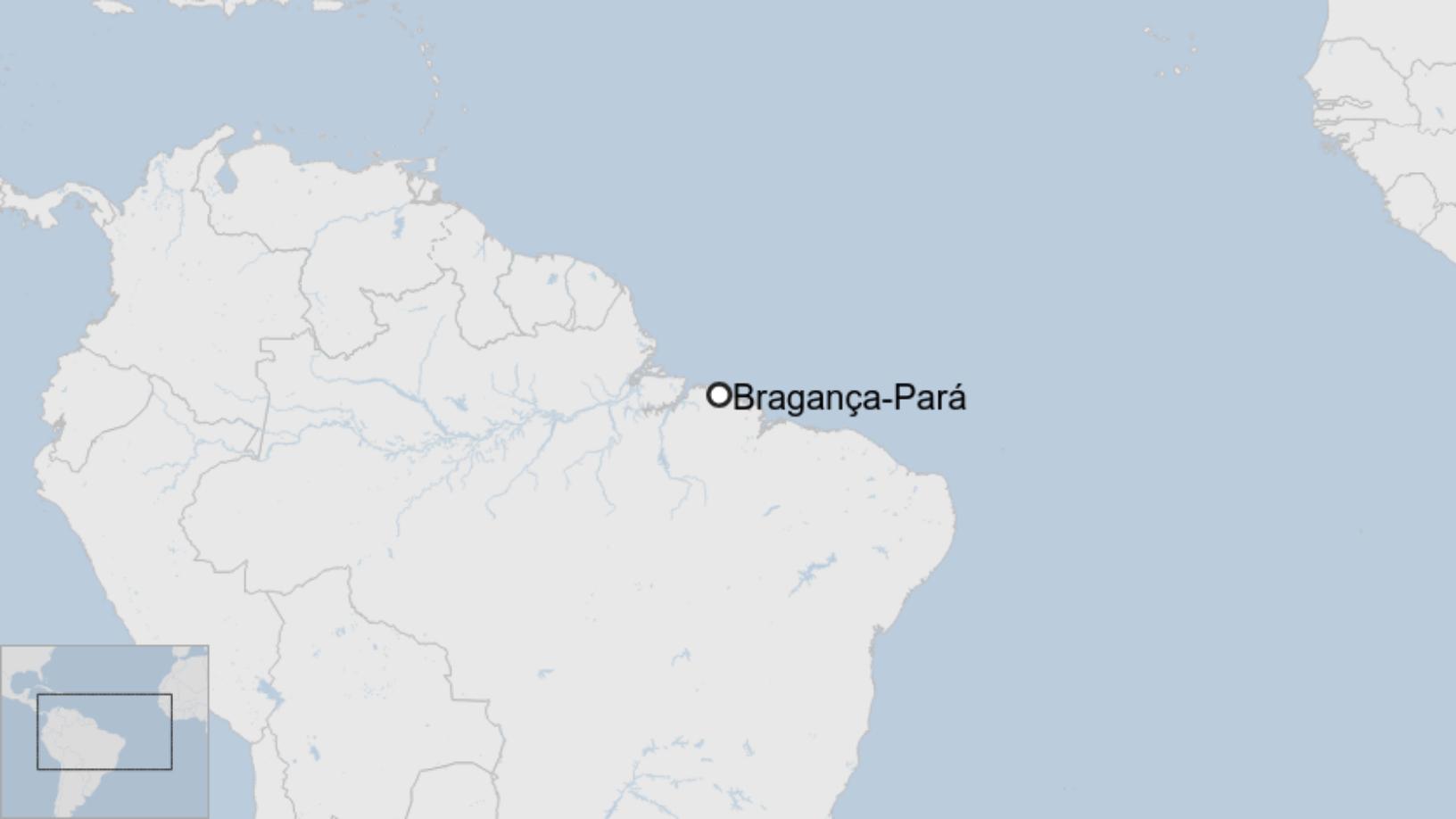 Map: Município de Bragança, no Pará