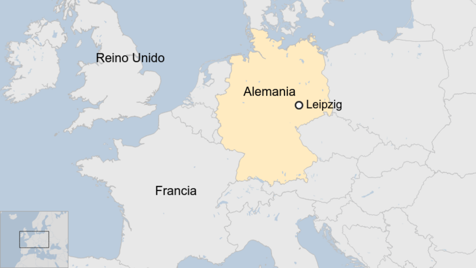 Map: Leipzig, Alemania